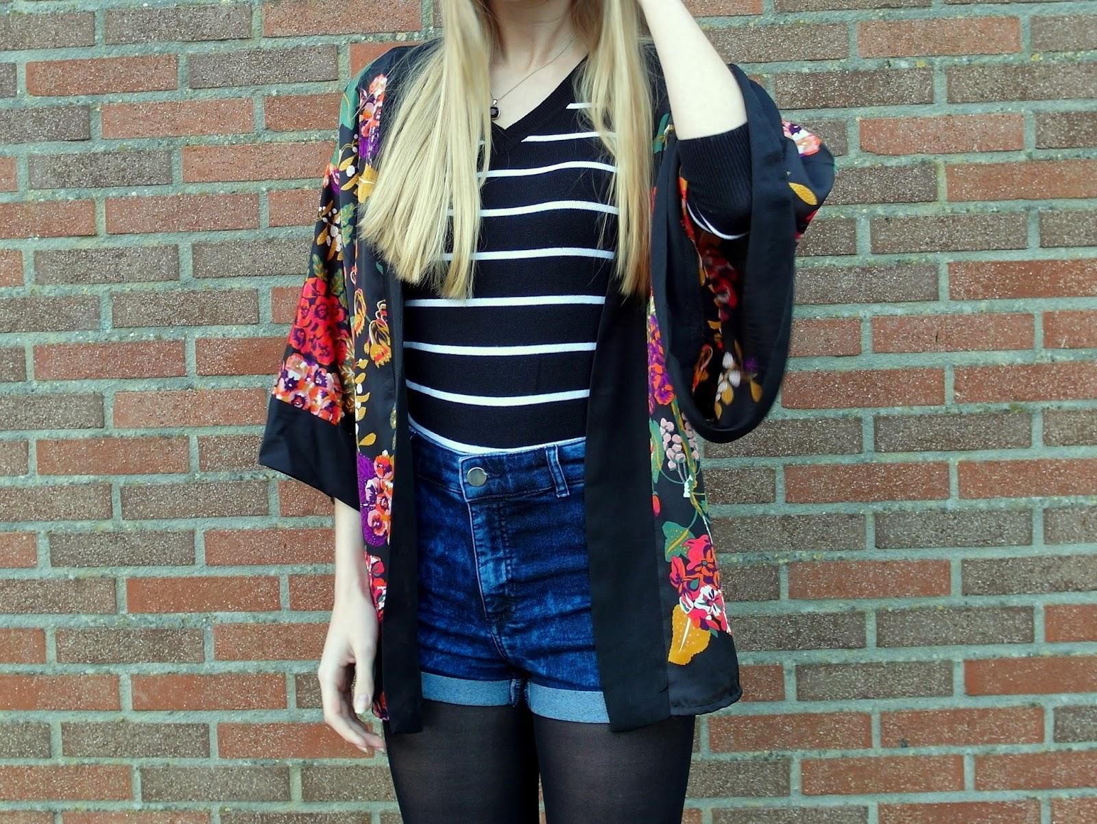 Outfit | Kimono & shorts
