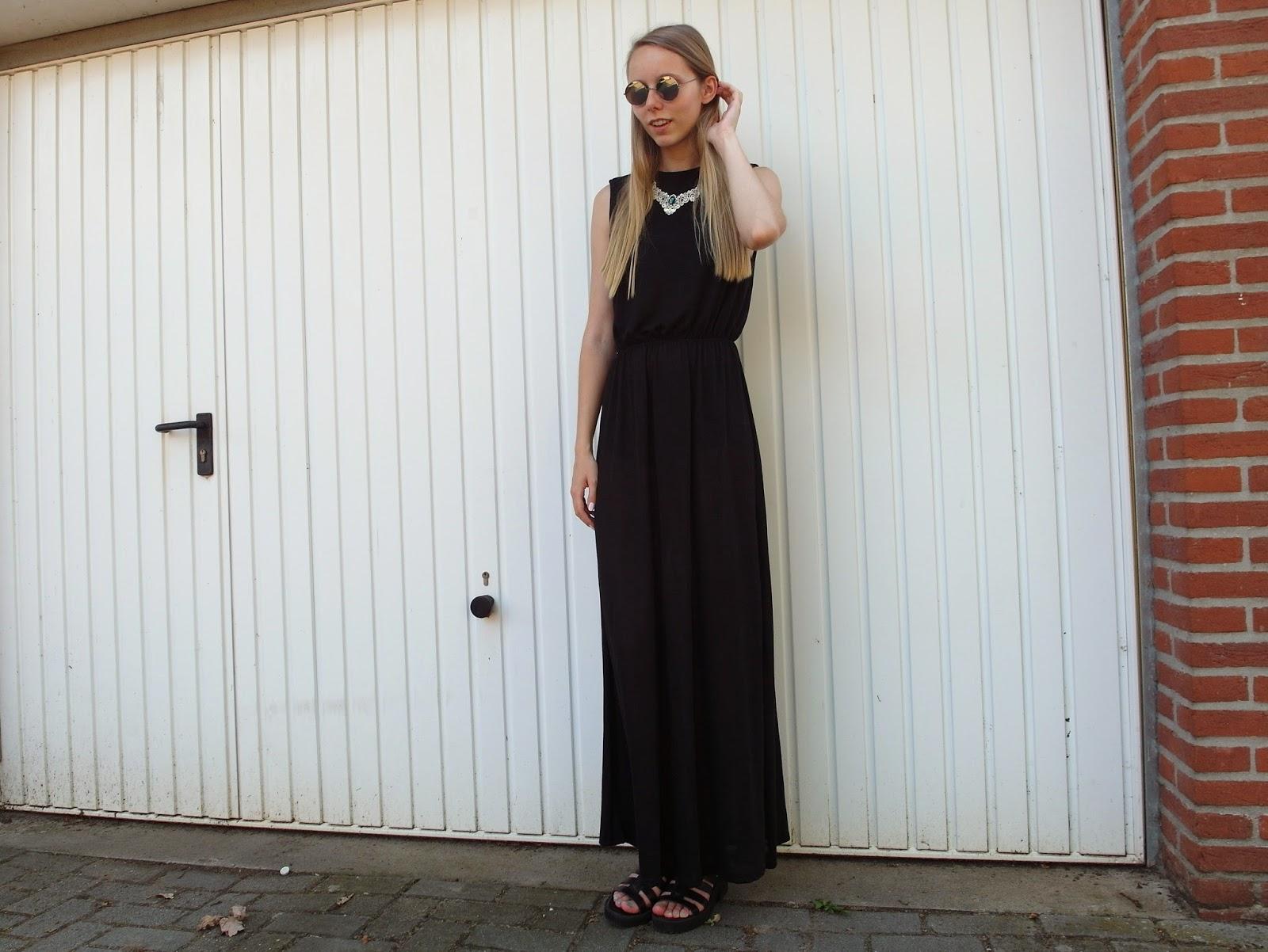 Lange zomerjurk maxi jurk tot de grond h&m