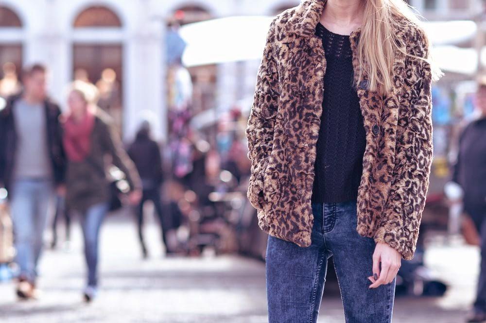 Outfit | Leopard faux fur