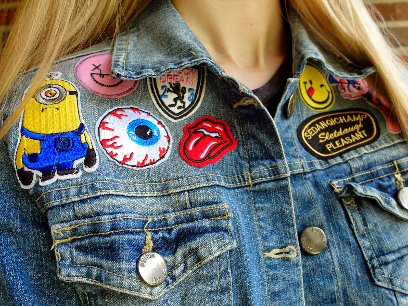 How to | Patched denim jacket