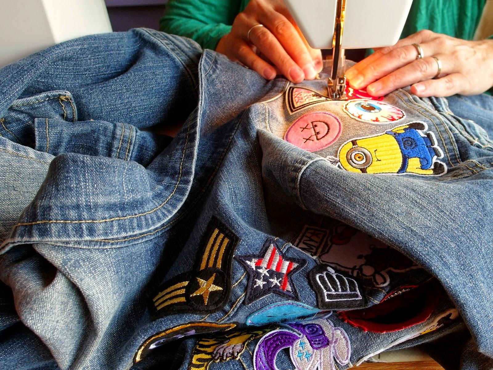 zelf patches op spijkerjasje maken