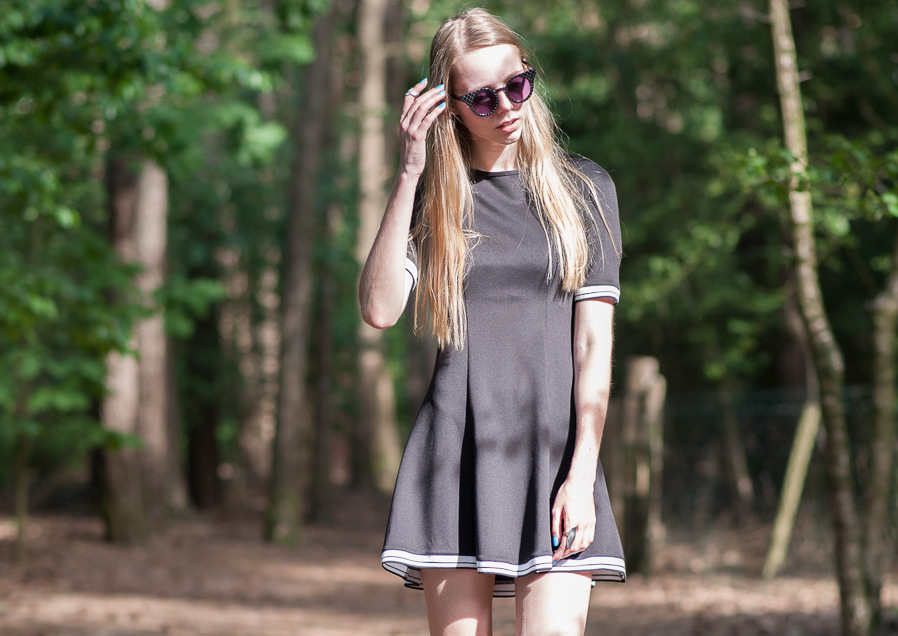 Outfit | Sporty skater dress