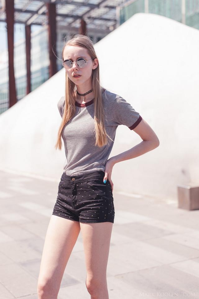 Eindhoven streetstyle nederlandse mode blogger Mark Koolen fotografie subdued shirt shorts met studs