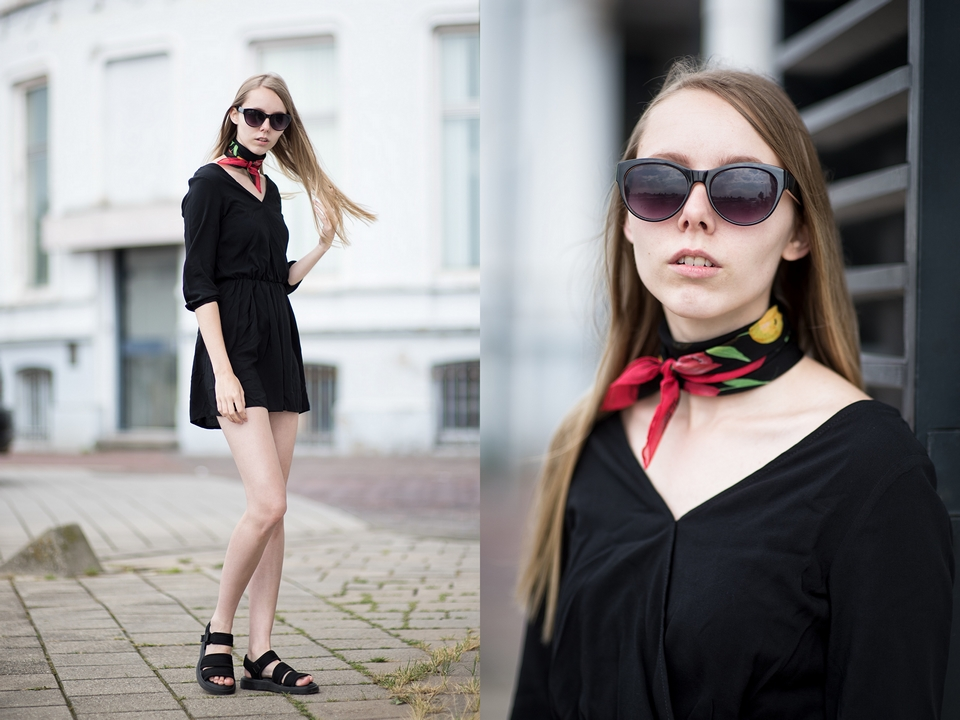 Outfit | Black playsuit