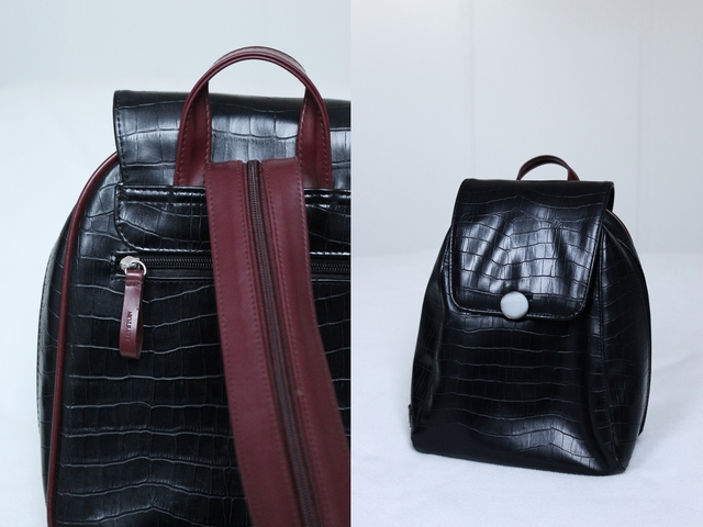 New in | Leather croco backpack
