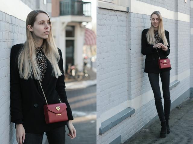 Outfit | Velvet leopard blouse