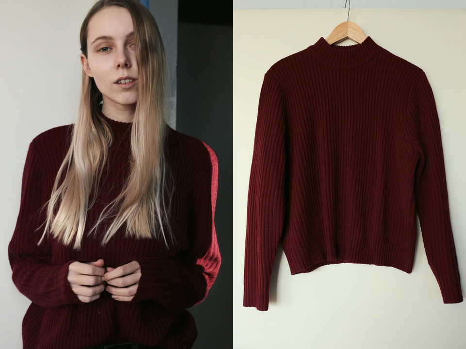 New in | Burgundy sweater