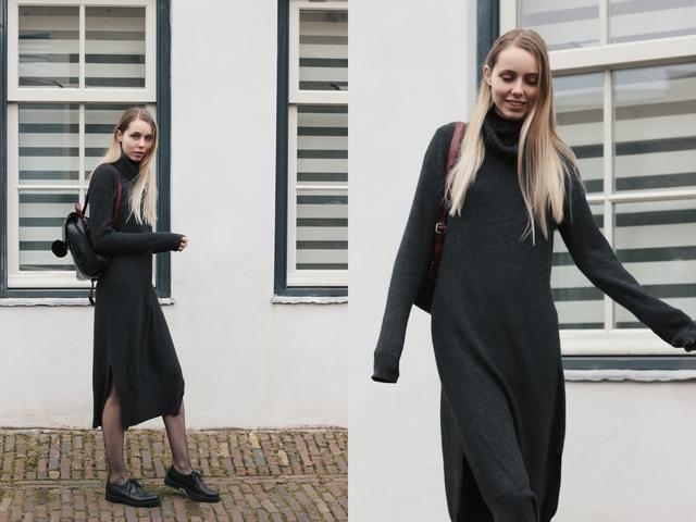 Outfit | Knitted maxi dress