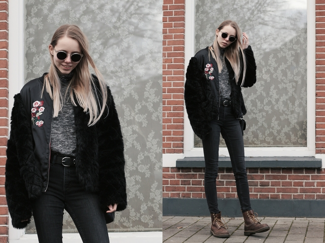 Outfit | Fake fur & sunglasses
