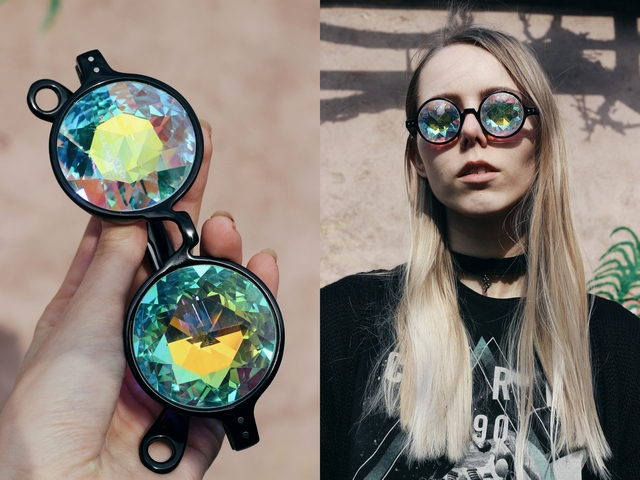 New in | Kaleidoscope glasses