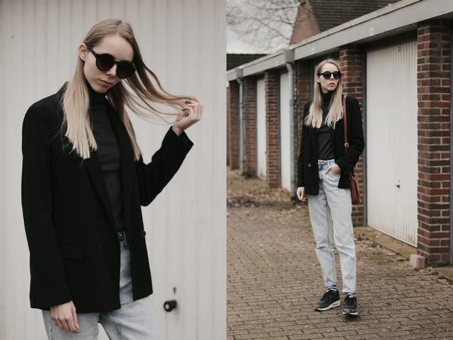 Outfit | Mom jeans and boyfriend blazer