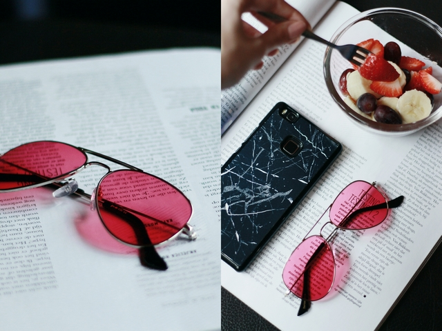 New in | Pink tinted sunglasses