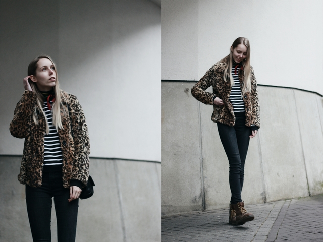 Outfit | Stripes and leopard