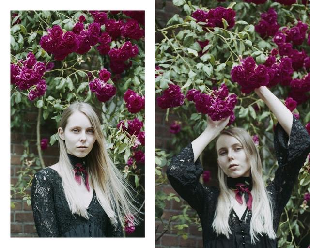 Analoge fotografie Sonia Perdeck vintage effect foto model Joanne M mode blog Utrecht