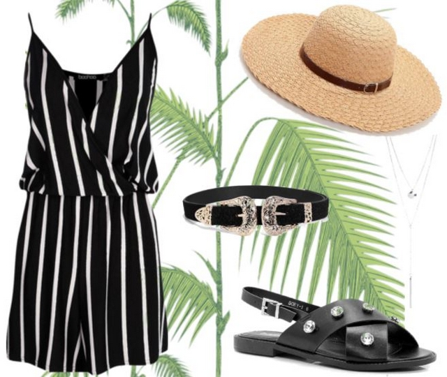 Want to wear | Playsuit & straw hat