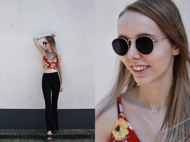 Outfit | Floral crop top