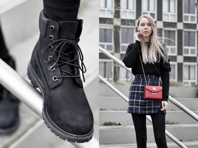 Outfit | Black Timberland boots