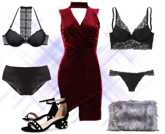 Want to wear | Velvet and black lace