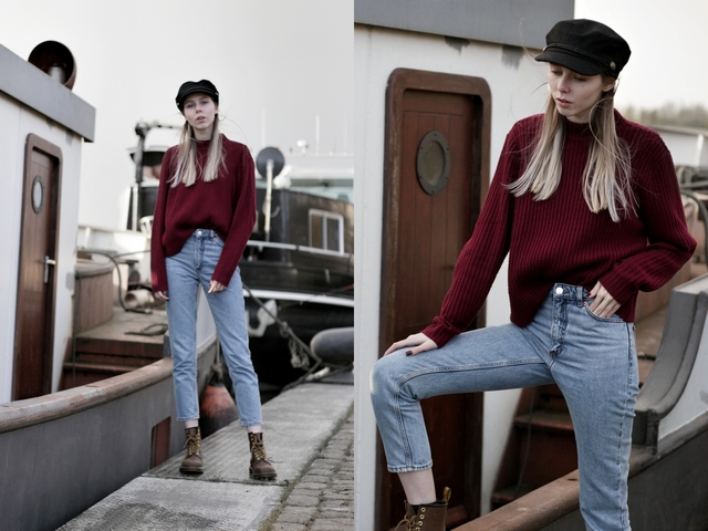 Make people stare visserspet My Jewelley sailor cap bakerboy herfst blogger outfit