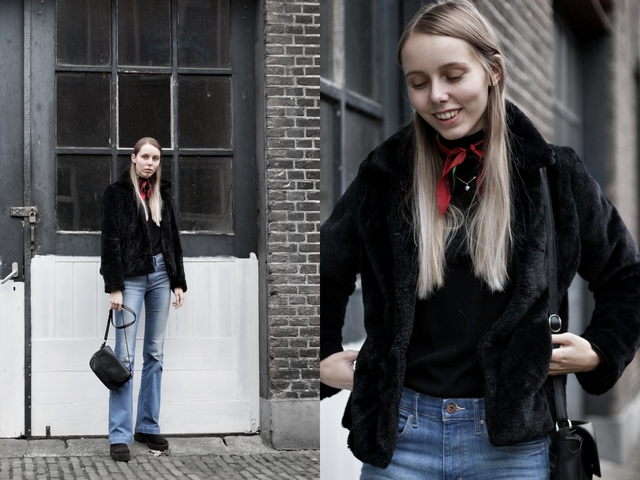 Outfit | Preloved faux fur