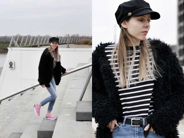 Make people stare British Knights Born Free roze sneakers blogger outfit sailor cap
