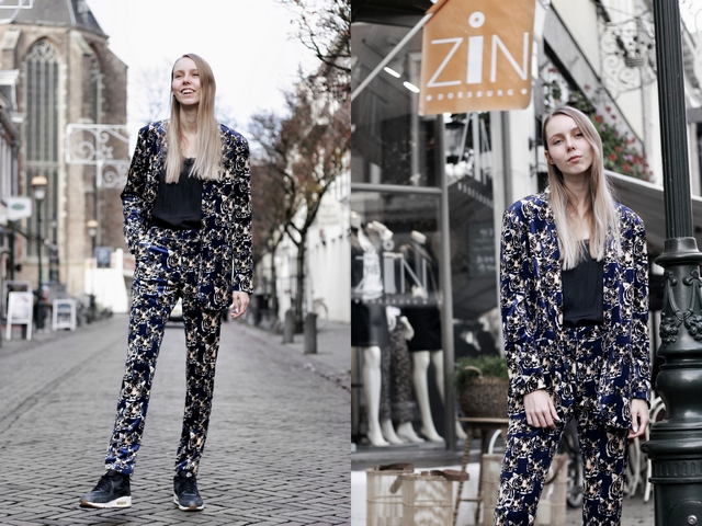 Zin Doesburg Jade Twelve pak tijger tiger suit Make people stare outfit blogger stijl