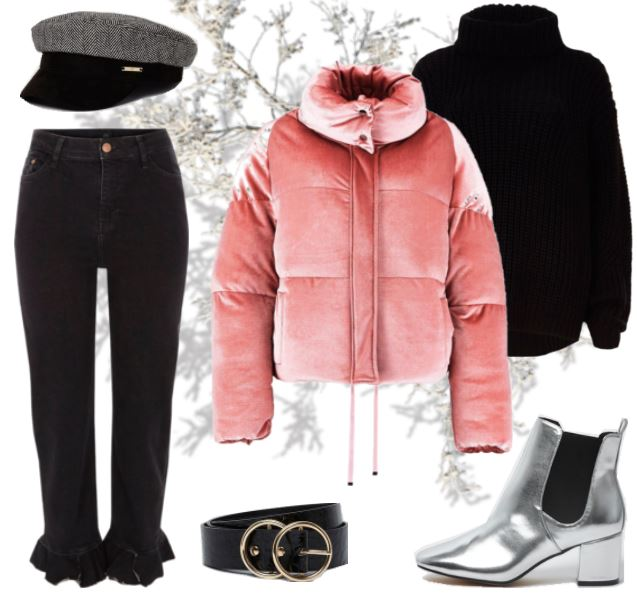 Want to wear | Pink velvet puffer