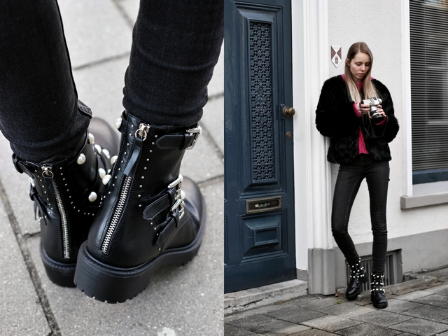 Outfit | Pearl biker boots