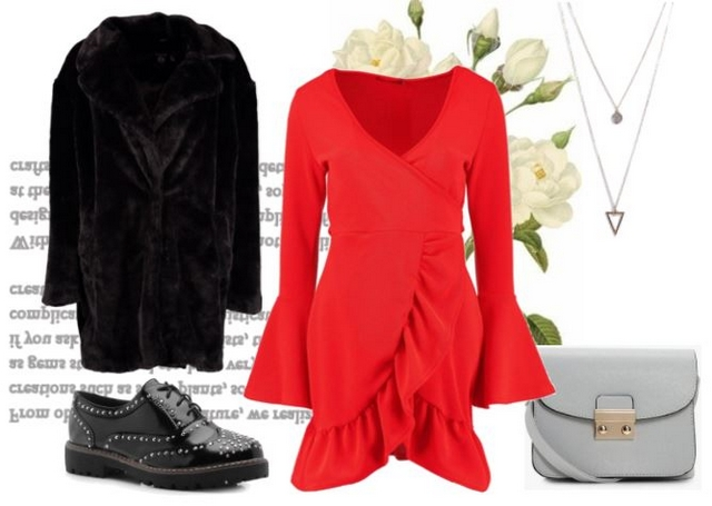 Want to wear | Red wrap dress