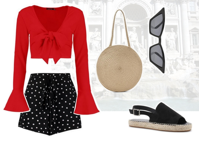 Want to wear | Polka dot shorts