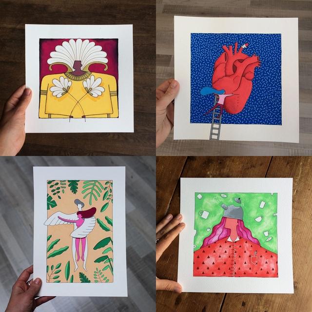 Girlboss interview met illustratieve ontwerpster Lotte Keijzer illustratie design vrouwelijke zelfstandige ondernemer inspirerend succesverhaal blog