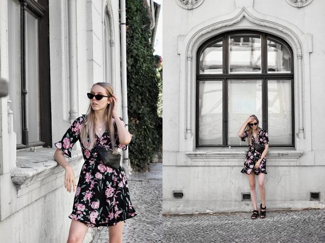 Outfit | Black floral dress