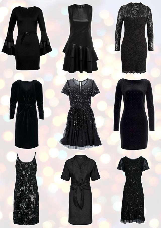 shop tip zwarte feestjurkjes inspiratie kerst feestdagen jurk kerstjurk new years eve glitter jurk pailletten slip dress