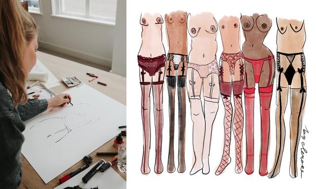 Girlboss interview met mode illustrator Noortje den Oudsten By Elenore vrouwelijke ondernemer creatief ondernemen fashion blog tekeningen