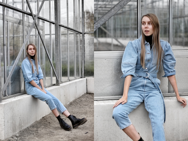 Outfit | Denim jumpsuit