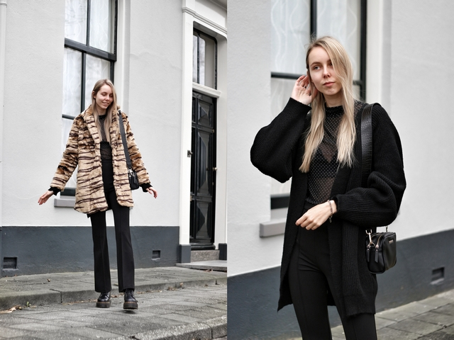 Outfit | Faux fur tiger coat