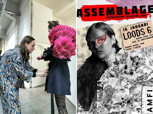 Backstage blog AMFI Assemblage Collections show Iris Klaver fashion designer