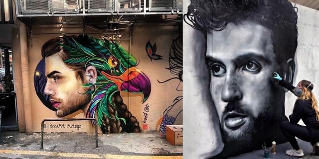 Girlboss interview met kunstenares street artist Rosalie de Graaf van RoosArt graffiti jonge ondernemer realistische schilderingen portret duncan laurence
