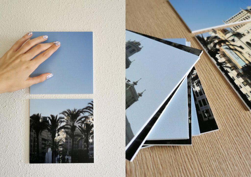 FotoCadeau review squares fotocollage van vierkantjes grote foto op vierkant afdrukken persoonlijke wanddecoratie ophangen zonder boren plakstrips powerstrips
