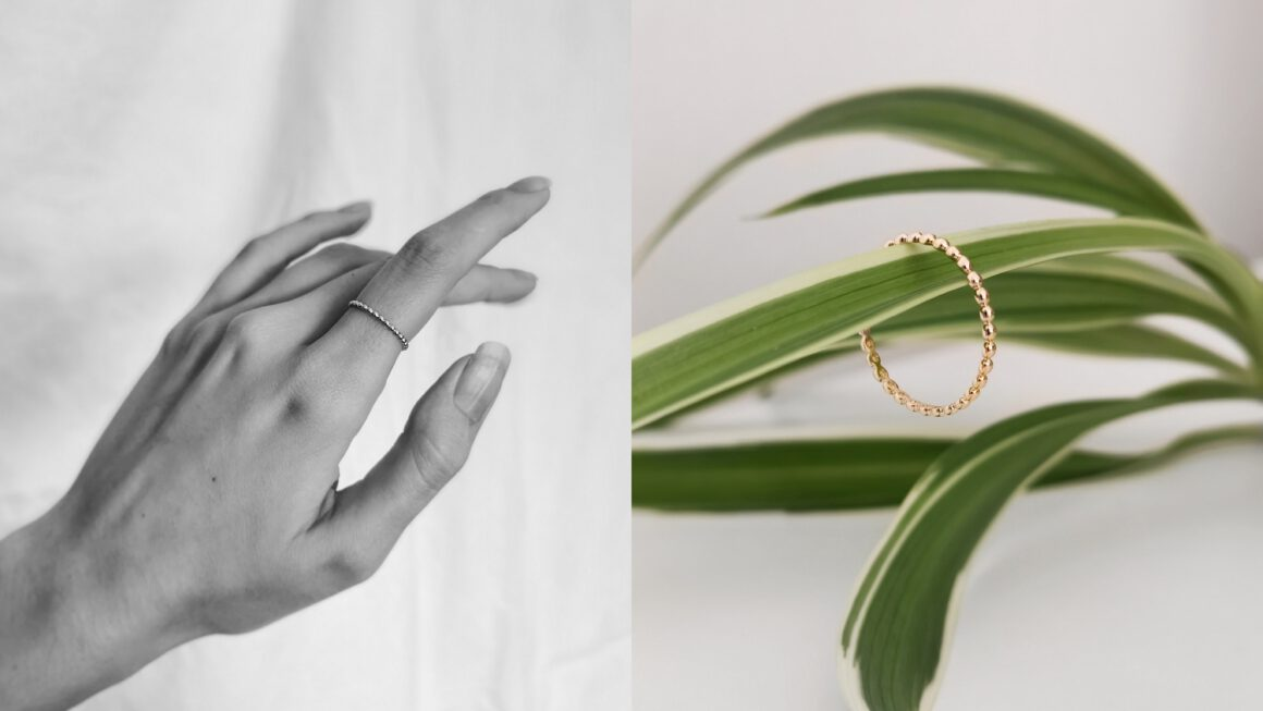 New in | 14k gold stacking ring