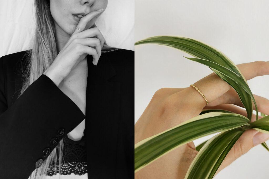 Isabel Bernard 14 karaat gouden ring minimalistische sieraden simpel design ringen 14k goud review stijlvol cadeau voor vrouwen parisian chic