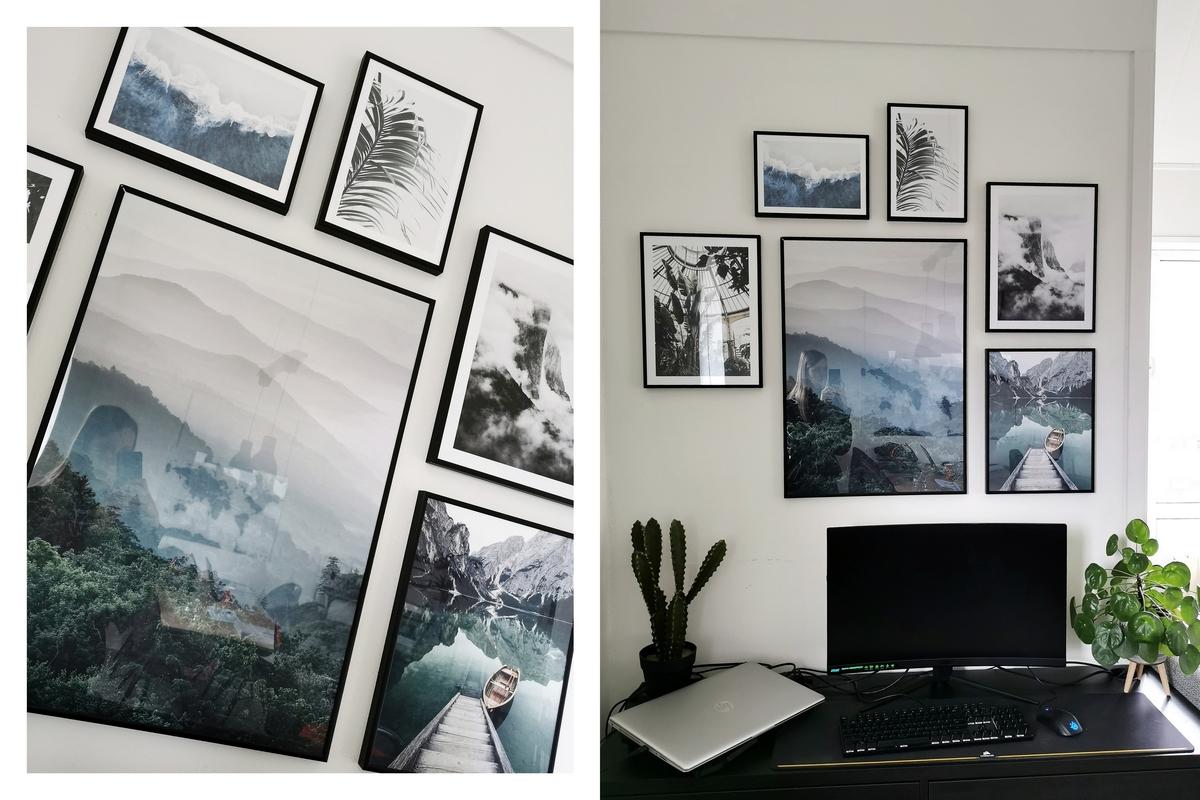Poster store fotowand natuur posters fotomuur inspiratie interieur blogger posterstore review zwarte metalen fotolijsten muurdecoratie idee