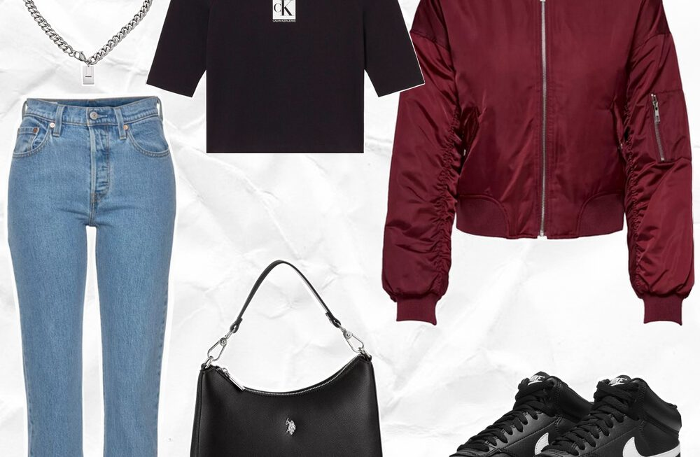 Want to wear | Burgundy bomber