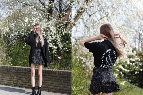 Outfit | Graphic tee and skort