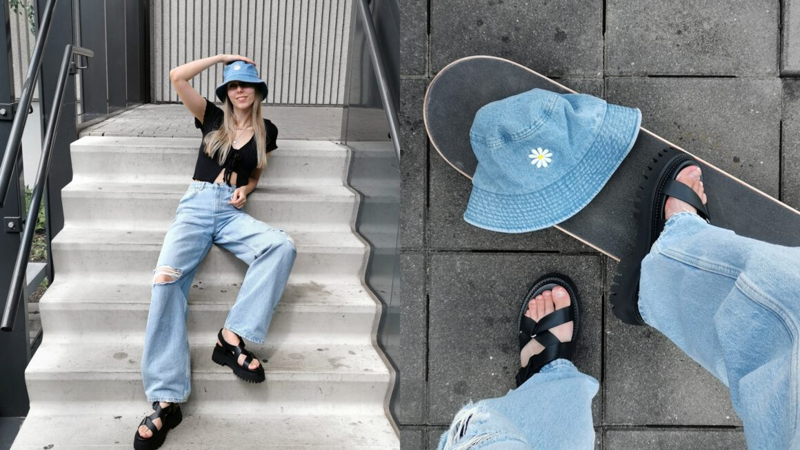 Outfit | Baggy jeans & groovy sandals