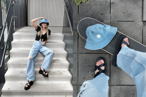 Outfit   Baggy jeans & groovy sandals
