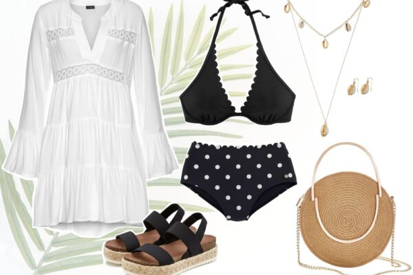 Want to wear | Strandoutfit met polkadot bikini